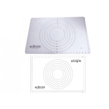 Tapis de préparation anti-adhérent en silicone avec marquage