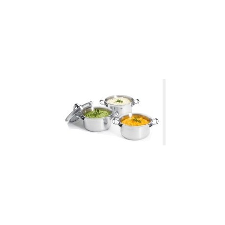 Mini-cocotte inox Affinity DeBuyer avec couvercle