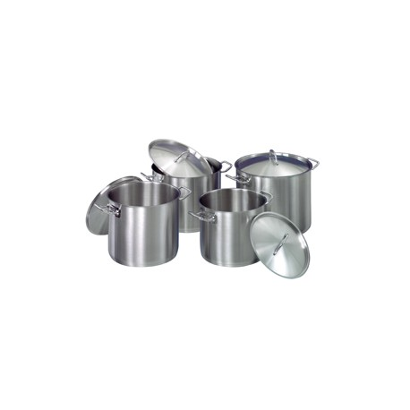 Set de 4 marmites inox pour induction gaz ou electrique for Set cuisine inox
