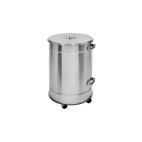 poubelle 50 litres inox aisi304 avec couvercle sur roues. Black Bedroom Furniture Sets. Home Design Ideas