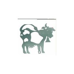 Plaque inox décor pour service à fondue