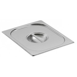 Couvercle inox pour bac gastro GN 2/1