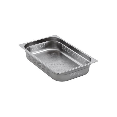 Bac gastronorme inox perforé gn 1/1 (l530 x 325 mm)