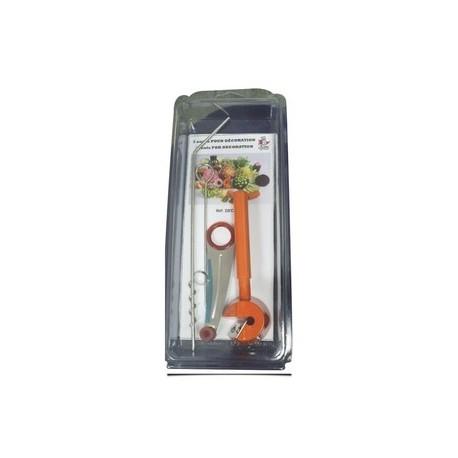 Kit 3 outils décoration : taille-légumes en fleur, déco'spirale,déco'guirlande
