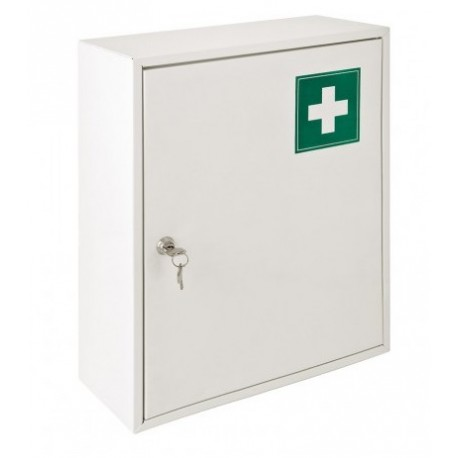 Armoire pharmacie m tal blanche 1 porte for Armoire 1 porte blanche