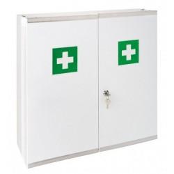 Armoire à pharmacie acier blanc 2 portes