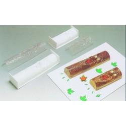Gouttière plastique pour bûche glacée