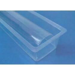 Gouttière à bûche plastique (le paquet de 12)