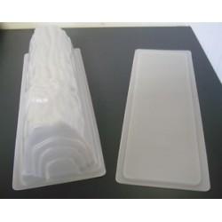 Moule à bûche avec semelle plastique translucide