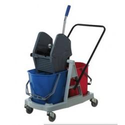 Chariot de lavage en polypropylène avec 2 seaux
