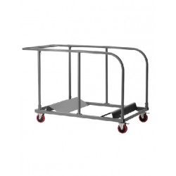 Chariot trolley pour tables rondes pliables