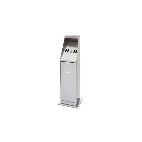 Cendrier inox sur colonne
