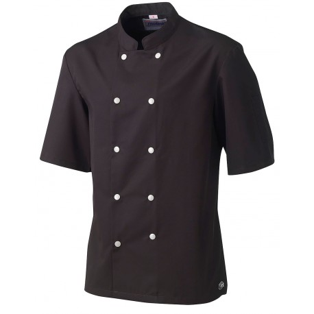 Veste de cuisinier homme MOLINEL Blacke manches courtes