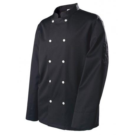 Veste de cuisinier homme MOLINEL Blacke manches longues
