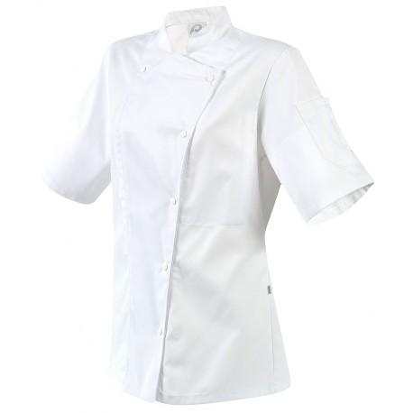 Veste de cuisine femme ROBUR Manille manches courtes