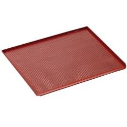 Plaque cuisson four perforée avec revêtement silicone