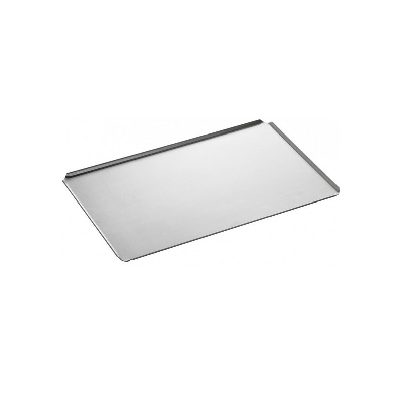 plaque aluminium de four gn 1 1 avec 4 bords plis inclin s. Black Bedroom Furniture Sets. Home Design Ideas