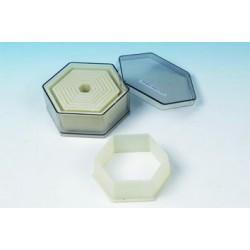 Boîte de 9 emporte pièces découpoirs hexagonaux polyglass