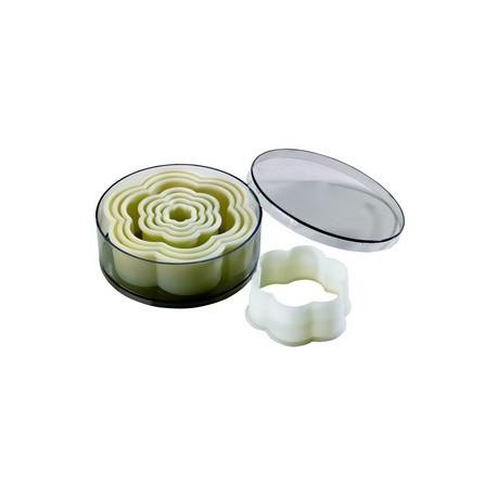 Boite de 8 emporte pieces decoupoirs fleurs polyglass