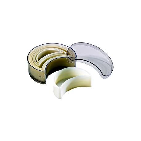 Boite de 7 emporte pieces decoupoirs croissants en polyglass