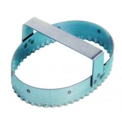 Emporte pièces découpoir inox ovale cannelé à chausson