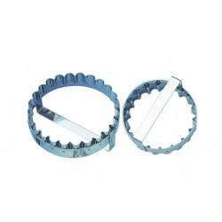 Emporte pièces découpoir inox pithiviers grosse cannelure