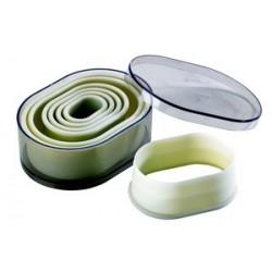 Boite de 7 emporte pieces decoupoirs ovales arrondis polyglass