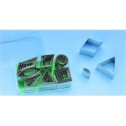 Boîte emporte pièces découpoirs forme géométrique