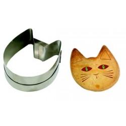 Découpoir inox tête de chat pour sablé