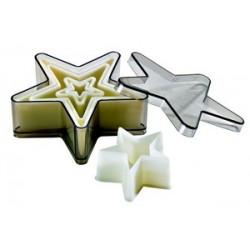 Boîte de 5 découpoirs étoiles 5 branches unis polyglass