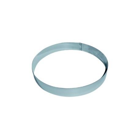 Cercle inox pour entremet hauteur 3.5 cm