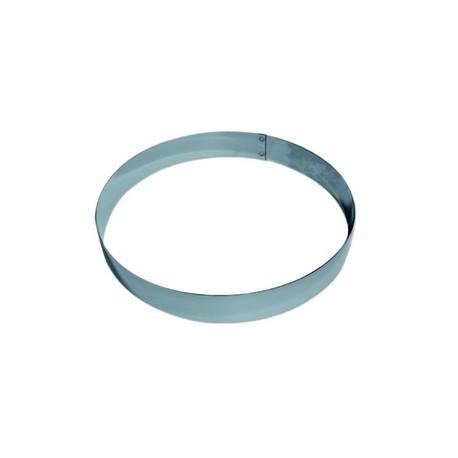 Cercle inox pour mousse hauteur 4 cm