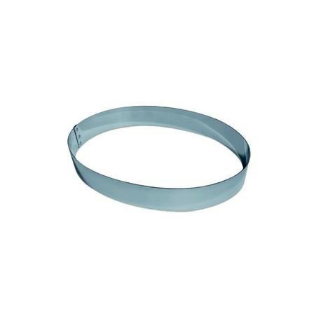 Moule inox forme ovale pour entremet hauteur 3.5 cm