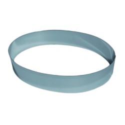Moule inox forme ovale pour mousse hauteur 4.5 cm