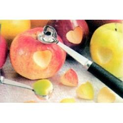 Cuillère d'amour : moule à pomme forme coeur sculpture fruit/légume