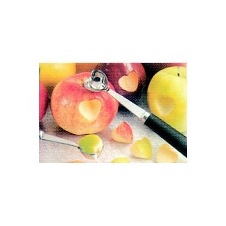 Cuillere d'amour : moule a pomme forme coeur sculpture fruit/legume