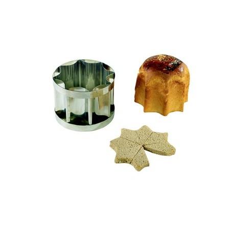 Moule inox en forme d'étoile pour pain surprise