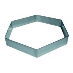 Moule inox forme hexagone pour entrement hauteur 3.5 cm