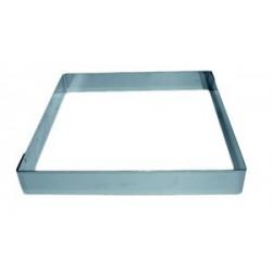 Moule carré inox pour entremet hauteur 3.5 cm