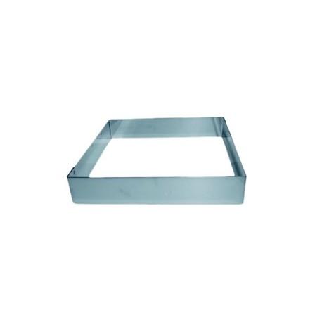 moule inox carr pour g teau mousse hauteur 4 5 cm. Black Bedroom Furniture Sets. Home Design Ideas