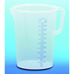 Pot gradée plastique 5 litres, mesureur en litre et ml