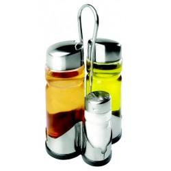 Menagere 4 pieces poivre, sel, huile, vinaigre