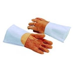 Paire de gant de protection cuir traite anti-chaleur 300°c