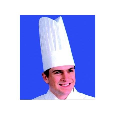 Toque de chef non tissee, traitee (x10)