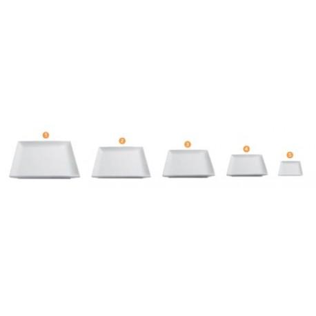 Assiette plate carrée blanche CLELIA (x6)