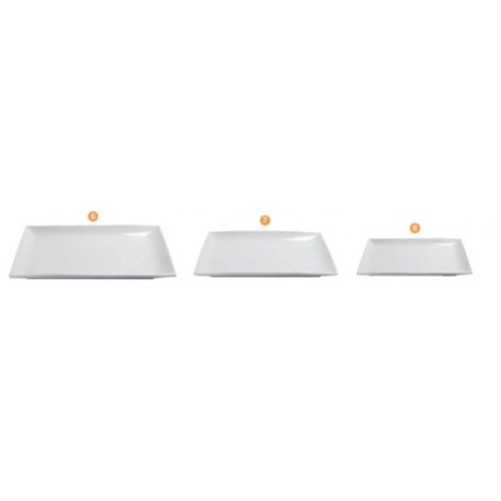 Assiette rectangulaire CLELIA (x6) et (x4)