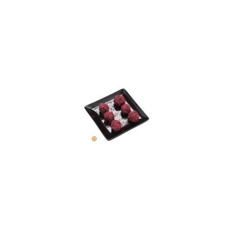 Assiette plate carrée noire CLELIA (x12)