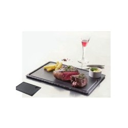 Assiette à steak BASALT porcelaine imitation ardoise (x3)