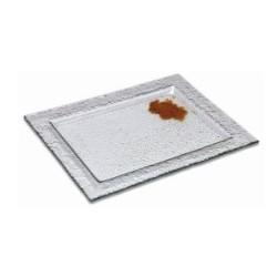 Assiette rectangulaire en verre odde