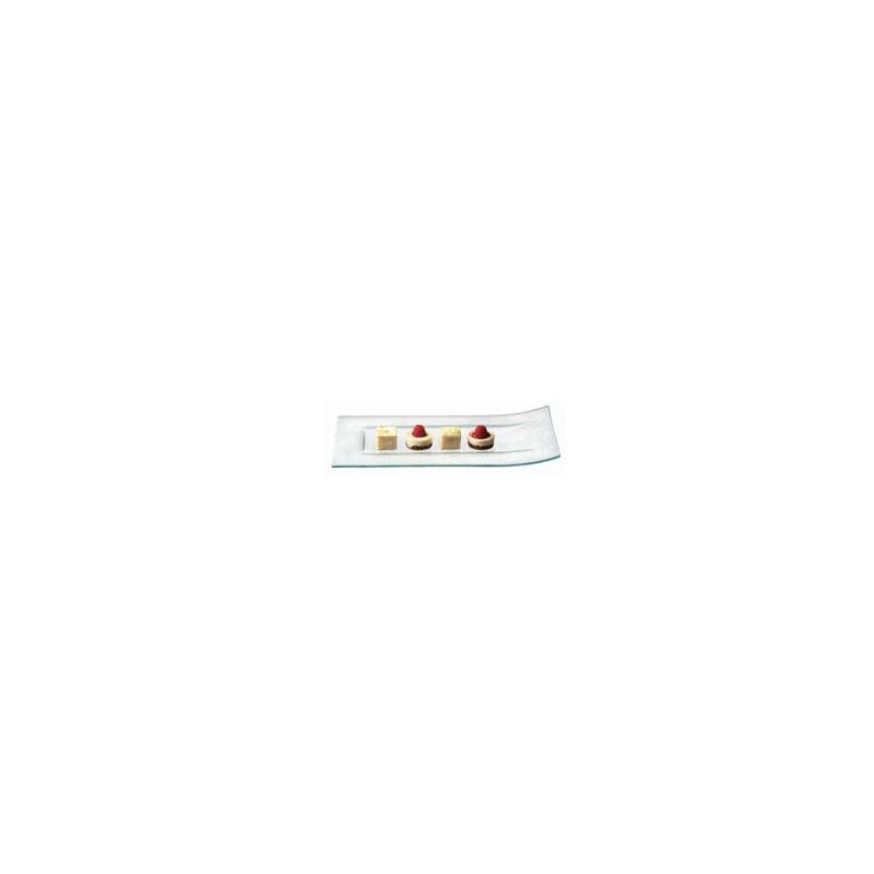 assiette rectangulaire en verre bord releve x6. Black Bedroom Furniture Sets. Home Design Ideas